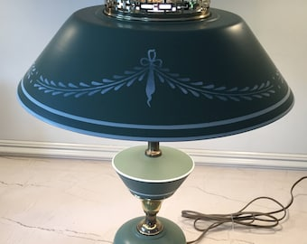 Vintage Tole Table Lamp in Great Shape