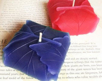Candle 2 Pack - Leaf Candles - Decorative Candle, Unique Handmade Gift, Hand Poured Candle, Wedding Candle, Candle Pack, Scented Candle,