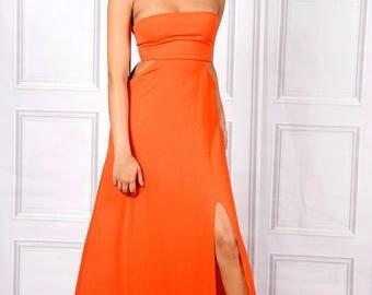 Margot- Strapless Cut Out Maxi Dress