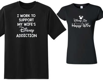 Disney Couple Shirt, Husband and Wife Shirts, Disney Family Shirts, Disney Vacation Shirts, Honeymoon Shirts, Disney Life Shirts