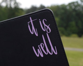 It Is Well Sticker It Is Well Decal Christian Sticker Christian Decal