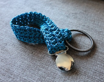 Hand Crocheted Nylon Pacifier (Binkie) Holder