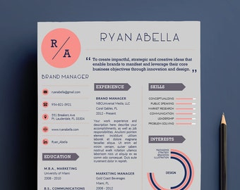 Creative Resume Template, Easy DIY Printable | Professional Design | Fully Editable | US Letter | A4 | Downloadable Resume Templates