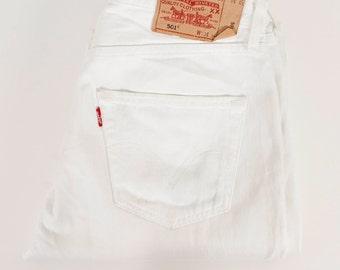 Levis 501 Vintage Levis Jeans White Vintage Hipster Regular Denim Jeans Button Fly Vintage Levis Denim Pants 90s Style Large Size Pants