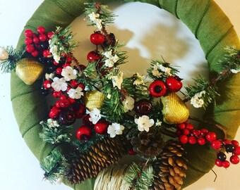 Holiday wreath, Christmas wreath, Christmas wreath front door, Xmas wreath, Winter wreath, Holiday decor, Christmas decor