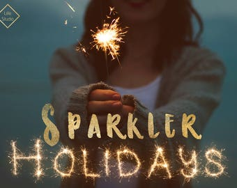 Holiday Sparkler Overlays - July 4th Sparklers Digital Overlay, Clipart Photoshop, Christmas, New Year's, Valentine Day, Fireworks, Clip Art