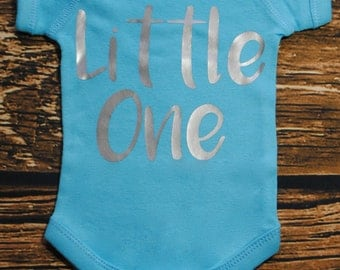 Little One Blue and Silver Bodysuit