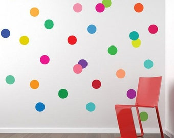 100 Polka Dot Wall Stickers, Polka Dots, Polka Decals, Confetti, Wall Art, Polka Dot Decals, Polka Dot Stickers, Nursery Wall Stickers