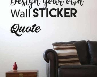 Create Wall Decal Etsy - Vinyl stickers design your own