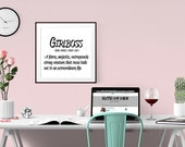 Girlboss - Defined. Poster/Print/Home decor/office decor/Gift for an entrepreneur/Inspiration/Quote/Start up