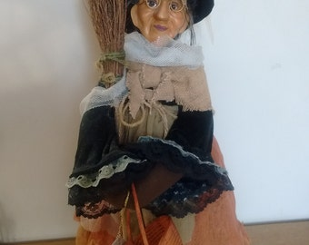 Witch Doll Witches Of Pendle Vintage Free Standing Kasma Porcelain Doll Collectable