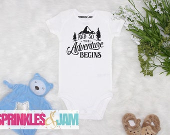And So the Adventure Begins, Pregnancy Announcement to husband, Baby Shower Gift, Adventure Baby Shower