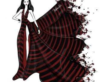 Custom Fashion Illustration, Digital Custom Fashion Illustration, Custom Blogger Illustration, Fashionista, Stylish Fashion Illustration, 5