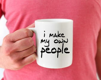 Husband Baby Pregnancy reveal, I make my own people, Pregnancy Announcement to Husband, Father's Day Mug, Dad Coffee Mug, New Dad Mug