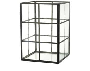 Steel and glass terrarium