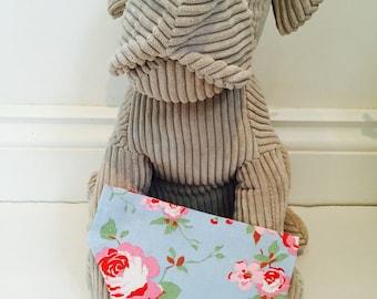 Dog Bandana, cath kidston rosali flower, flower fabric bandana for dogs.