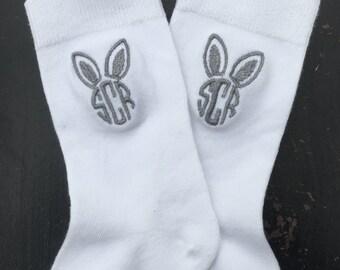Monogram Knee High Socks - Children's Knee High Socks -Easter Socks - Monogrammed Socks - Toddler Knee Highs - Monogrammed Children's Socks