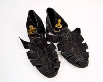 Vintage Rare Suede Arché Sandals Size 35 (US 5)