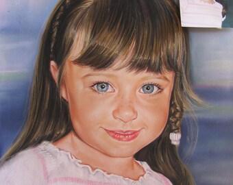 Custom Portrait from photo - Portrait painting of Kid