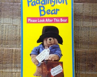Paddington Bear VHS, Please Look After This Bear; Volume 1; with clam shell (25 minutes); Made in USA