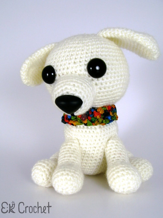 Amigurumi Dog Tail : Small White Crochet Amigurumi Puppy Dog