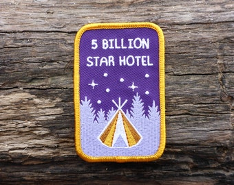 5 Billion Star Patch - Camping Patch - Tent Patch - Teepee Patch - Star Patch - Outdoors Patch - Traveler Patch - Travel Patch