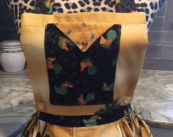 3 in 1 fashion apron with just the right amount of bling