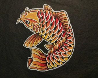 Koi Carp hand painted Patch