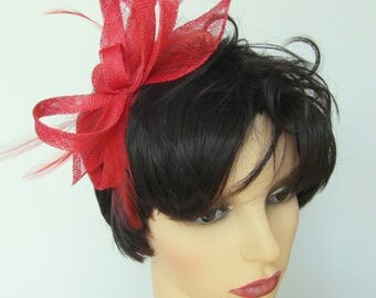 Valerie medium burnt orange fascinator