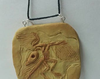 Archaeopteryx Fossil Clay Replica OOAK