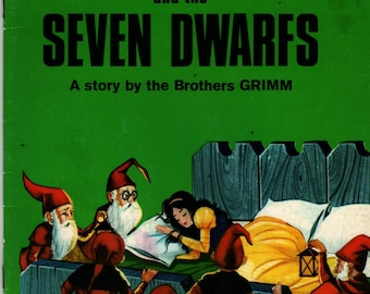 Snow White and the Seven Dwarfs a Giant Fairy Story - A story by the Brothers Grimm - Canaider (?) Corraider (?) - 1983 - Vintage Kids Book