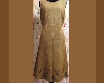 Tiller Dress - 2 sizes - handmade and naturally dyed fair cotton dress, blockprints, Nepal fair trade, women's handmade dress, eco-friendly
