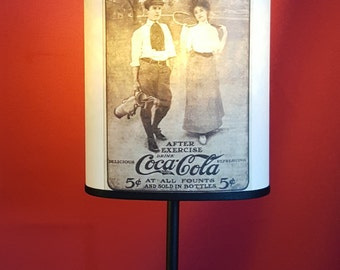 Lampshade Coca Cola old poster