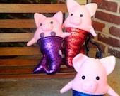 Merpig Mermaid Pig Plush