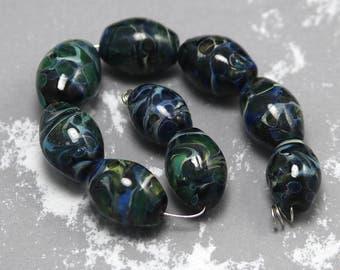Sea Serpent Boro Lampwork Bead Set