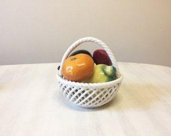 Fruit bowl, china fruit bowl, vintage china, fine china, vintage fruit bowl, vintage porcelain fruit, vintage china fruit, vintage ornament