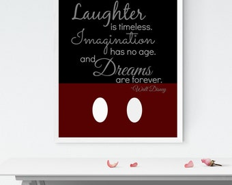 Walt Disney Quote Print, Home Decor, Digital Art, Inspirational Wall Art, 8x10 Print, INSTANT DOWNLOAD