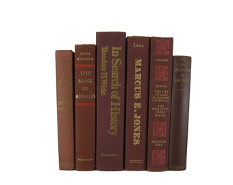 Brown Decorative Books,  Brown Earth tone VIntage Books, Photo Props , Vintage Wedding Decor