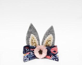 Mini Bunny Ears || Headband or Clip || Easter 2017