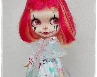 THOMASINE Gothic Clown  Blythe custom doll by Antique Shop Dolls