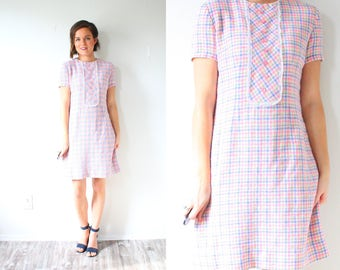 Pink plaid dress  Etsy