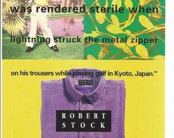 1993 Advertisement Robert Stock Computer Saleman Sterile Lightning Sandwashed Silk Shirt Kyoto Japan Wall Art Decor