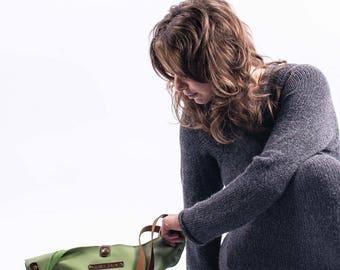 "Handmade leather tote - ""Lenore"" handbag"