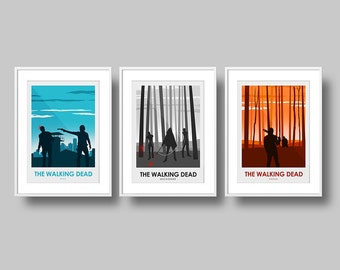 The Walking Dead Poster Art Print set, Rick, Negan, Michonne The Walking Dead Poster, Television, Poster, Art Print