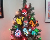 Pokemon Perler Bead Christmas Ornaments - new years eve party - december gifts