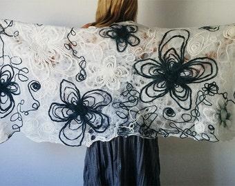 100% merino wool shawl, wool stole, wool scarf, woolen shawl, bufanda de lana merino, chal de lana merino, wide shawl, wedding shawl