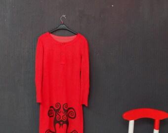 Maternity - Redesigned Red Vntg Dress