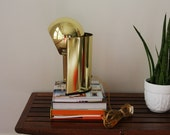 Reserved for Madeleine - Mod Gold Eyeball Sphere Desk Lamp Adjustable