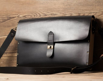 Leather briefcase + wood mens briefcase mens leather briefcase womens leather briefcase Macbook 13 bag Macbook 11 bag Macbook 15 bag