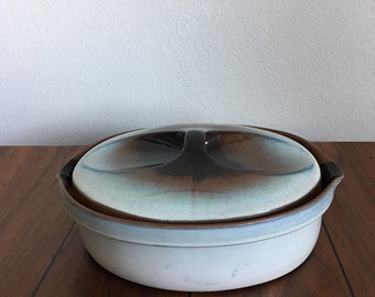 Large Casserole Dish by Vintage Peter Pots with Lid 2 Quarts